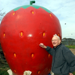 Donald Gray with strawberry
